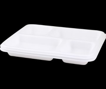 Four Compartment Foam Plate