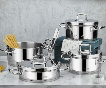 Vento Prestige 8 Pcs Cookware Set