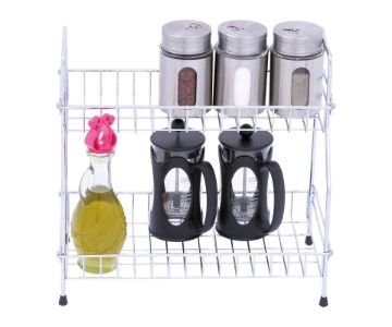 TWO TIER PORTABLE SPICE RACK